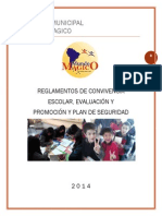 Colegio Municipal Reglamento Modificado 2014.