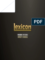 Lexicon PCM Native Effects Owner's Manual