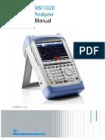 OperatingMcxvcanual AnalizadorEspectros FSH4 en FW240 TG