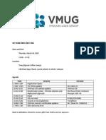 Vietnam Vmug Meeting Agenda -3rd on Mar26 - V2