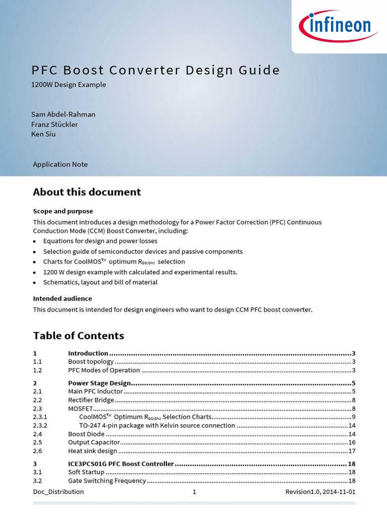 Pfc Boost Converter Design Guide Infineon Current Path With Mosfet On Applicationnote Pfcccmboostconverterdesignguide An V02 00 En Inductor Diode
