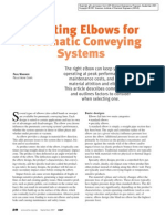 Selecting Elbows for Pneumatic Conveying Systems
