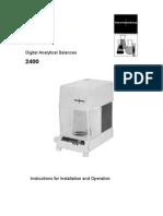 Digital Analitic Balance-2400 Series