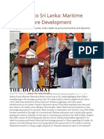 India's Key to Sri Lanka Maritime Infrastructure Development