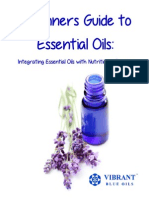 Vibrant Blue Beginner Guide to Essential Oils