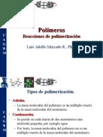 Polímeros, Reacciones de Polimerización