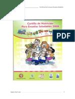 Cartilla de Nutricion Para Escuelas Saludables 2010 Completo