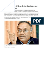 Jayampathy on 19th a, Electoral Reforms and 100-Day Program