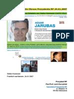 Do Obrazu Prezydenta RP 24.01.2007 PDO80 Fascynacja Obledem von Stefan Kosiewski CANTO CDLII