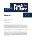 Leaked Clinton Fundraising Memo