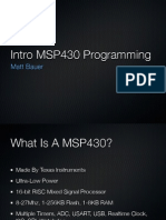 Intro to MSP430 Programming