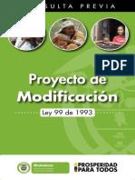 Cartilla Proyecto de Modificacion Ley 99