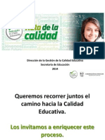Ruta de La Calidad Antioquia La Mas Educada 2014