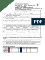 Tercer Examen Parcial Área Matematica Fecha 7-12-2009 e