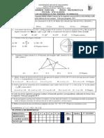 Tercer Examen Parcial Área Matematica Fecha 07-12-2009