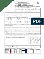 Tercer Examen Parcial Área Matematica Fecha 14-09-2009