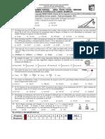 Tercer Examen Parcial Área Física Fecha 18-06-2009