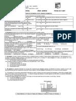 Segundo Examen Parcial Area Quimica Fecha 02-11-2007