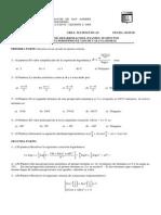 Segundo Examen Parcial Área Matemáticas Fecha 05.05.09