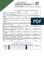 Tercer Examen Parcial Área Química Fecha 11-12-2009