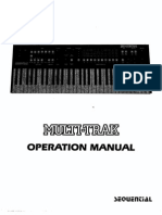 Sequential Circuits Multitrak Owners Manual