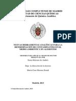 NUEVAS HERRAMIENTAS ANALÍTICAS PARA LA DETERMINACIÓN DE CONTAMINANTES EN EL MEDIO AMBIENTE Y EN ALIMENTOS