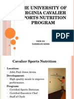the university of virginia cavalier sports nutrition program