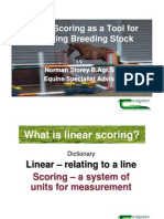 Norman Storey Presentation Linear Scoring