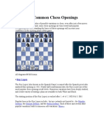 The Most Common Chess Openings