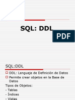SQL-Lenguaje de Definicion de Datos-DDL