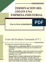Determinacion Del Costo en Una Empresa Industrial