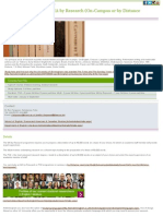 English Literature PhD MA by Research (on-Campus or by Distance Learning)