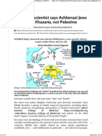 Top Israeli Scientist Says Ashkenazi Jews Came From Khazaria, Not Palestine