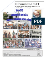 Informativo Mensal do CETJ - Abril 2015