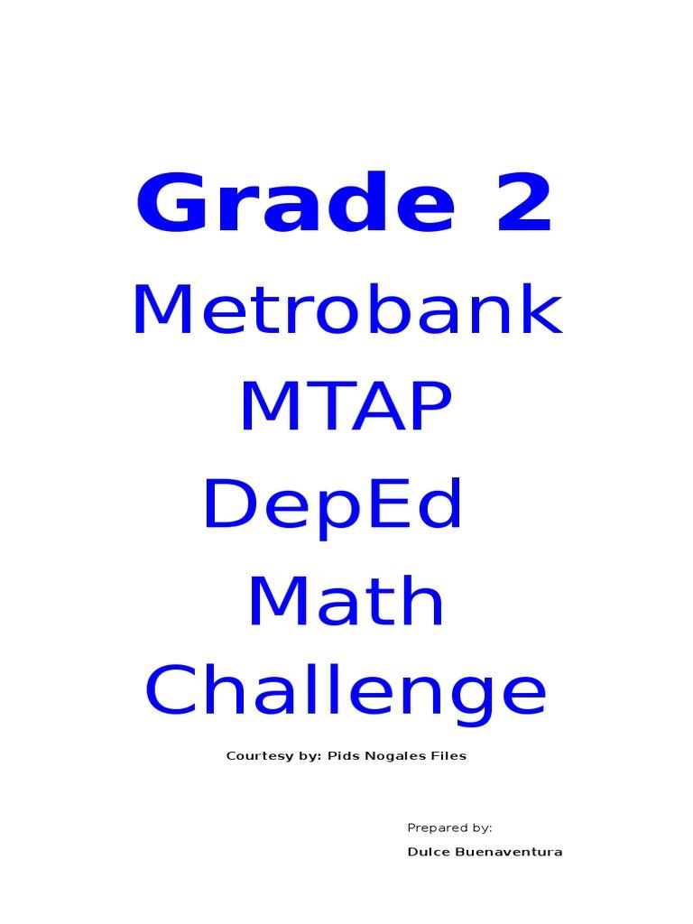 Grade 2 Mtap Reviewer  Fraction (mathematics