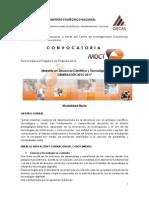 Convocatoria Mdct 2015-2017