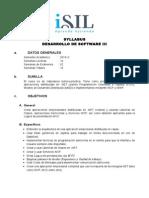 Syllabus - Desarrollo de Software III - 2014 I