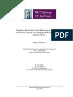 تأثير انظمة عمل الاداء العالي على الموظف والخدمات
