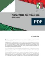 Plataforma Electoral a Gobernador del Edo. Hidalgo