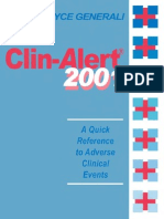 Clinical Alert a Quick Reference to Adverse Clinical Events