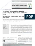 9. Yilmaz Et Al, 2015. the Effects of Drying Conditions on Moisture Transfer and Quality of Pomegranate Fruit Leather (Pestil)