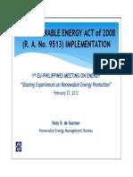 Renewable Energy Act2008 Deguzman En