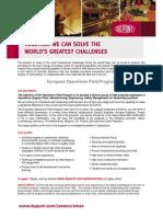 European Operations Field Program Feb 2012