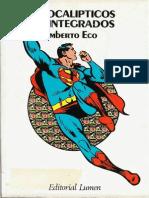 Eco Umberto Apocalipticos e Integrados