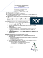 Simulare Evaluare Nationala 2015 Matematica