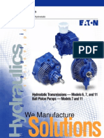 Models 6, 7, And 11 Light Duty Hydrostatic Transmissions