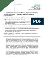 An Ethyl Acetate Fraction of Moringa oleifera Lam. Inhibits Human Macrophage Cytokine Production Induced by Cigarette Smoke