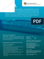 MBA Programme UKMGSB