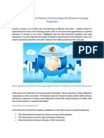 Exploring the Great Chances of Partnerships for Distance Learning Programs