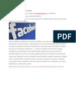 Registro Facebook Guías Cuenta